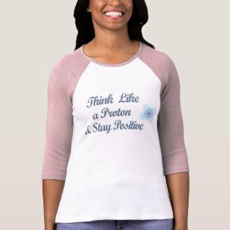 Tänkanågot liknande en proton och en stagrealitet t-shirt