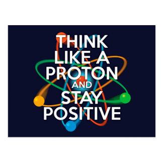 Tänkanågot liknande en proton och en stagrealitet vykort