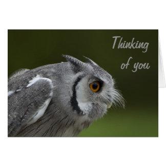Tänkande av dig Card - behandla som ett barn grå Hälsningskort