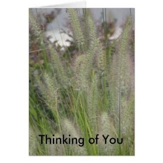 Tänkande av dig Card Hälsningskort