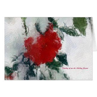 Tänkande av dig denna julhelg av A. Celeste Hälsningskort