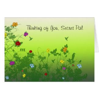 Tänkande av dig hemlig Pal Hälsningskort