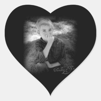 Tänkande av dig hjärtformat klistermärke