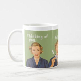 Tänkande av dig och att dricka poison. kaffe koppar