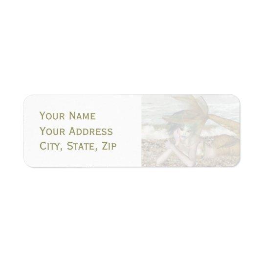 Tänkande av dig returadress etikett