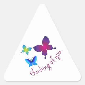 Tänkande av dig triangelformat klistermärke