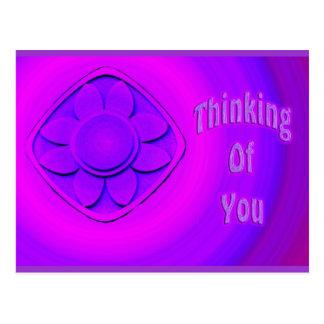 tänkande av dig vykort