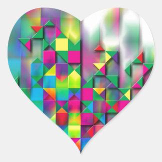 Tänkande kreativ hjärtformat klistermärke