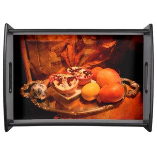 Tänkande om thanksgiving serveringsbricka