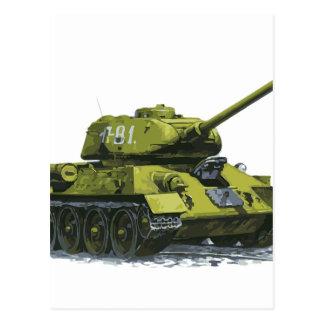 TankApg rysk tank Vykort