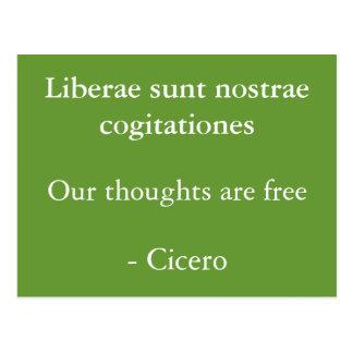 Tankar är fria Cicero Vykort