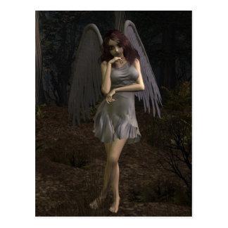 Tankar av en mörk ängel vykort