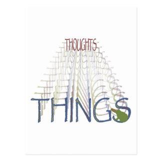 Tankar blir saker vykort