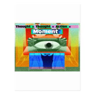 Tankar och handlingar likställer ögonblick vykort