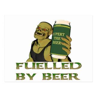 Tankat av öl vykort