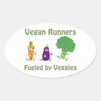 Tankat av Veggies Ovalt Klistermärke