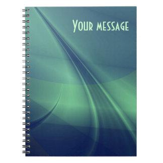 """Tanke"""" journal för Fractal """"pråligt av Anteckningsbok Med Spiral"""