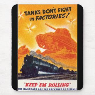 Tanker slåss inte i fabriker musmatta