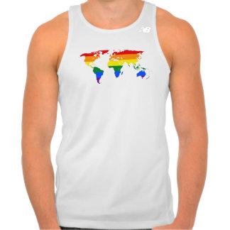 Tanktop för karta för LGBT-pridevärld
