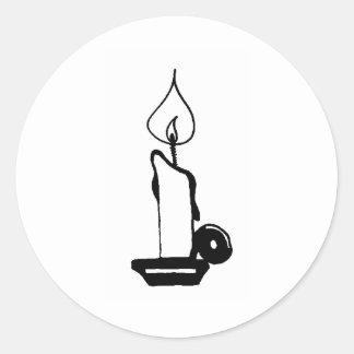 Tänt stearinljus runt klistermärke