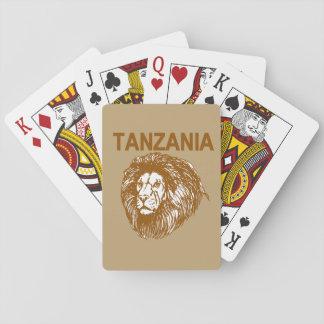 Tanzania med lejona leka kort casinokort