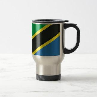 Tanzanisk flagga rostfritt stål resemugg