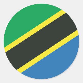 Tanzanisk flagga runt klistermärke