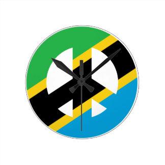 Tanzaniskt fredsymbol rund klocka
