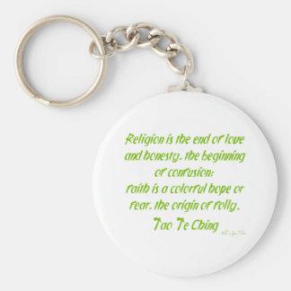 Tao Te Ching på religion Rund Nyckelring