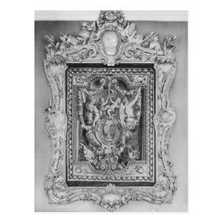 Tapestry av vapenskölden av den franska kungliga vykort