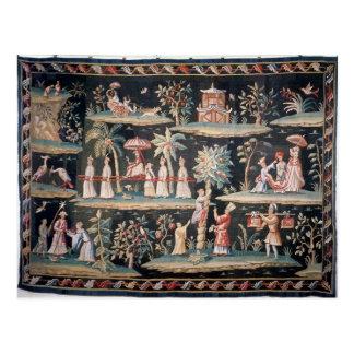 Tapestry i Chinoiseriestilen av den John skåpbilen Vykort