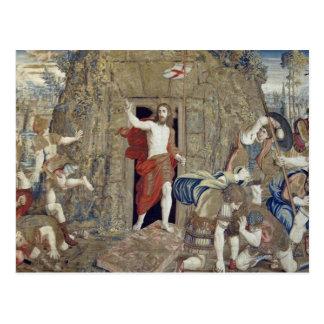 Tapestry som in visar uppståndelsen av Kristus Vykort