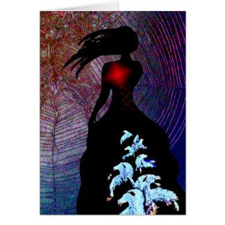Tapestry till henne hjärta hälsningskort