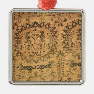 Tapestry western asiat, 7:e-8th århundrade julgransprydnad metall