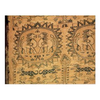 Tapestry western asiat, 7:e-8th århundrade vykort