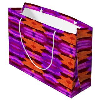 Tapestryen av den purpurfärgade och orange gåvan