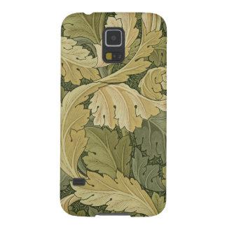 Tapetdesignen med acanthusen/skogsmark färgar, 1 galaxy s5 fodral