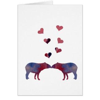 Tapiren kopplar ihop hälsningskort