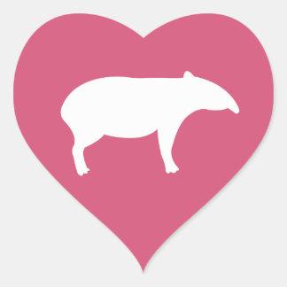 Tapirhjärtaklistermärkear Hjärtformat Klistermärke