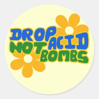 Tappa syra inte bombarderar runt klistermärke