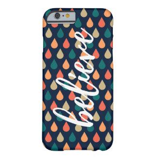 """Tappar den tro"" orangen fodral för mönsteriPhonen Barely There iPhone 6 Fodral"