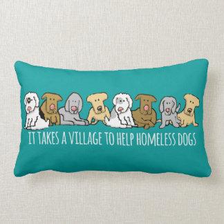 Tar en byhjälp hemlösa hundar lumbarkudde
