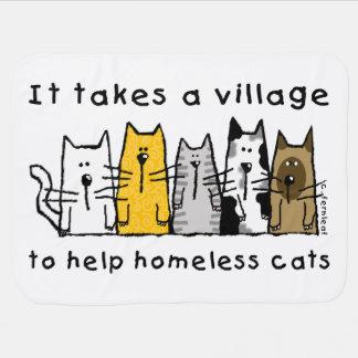 Tar en byhjälp hemlösa katter filten bebisfilt