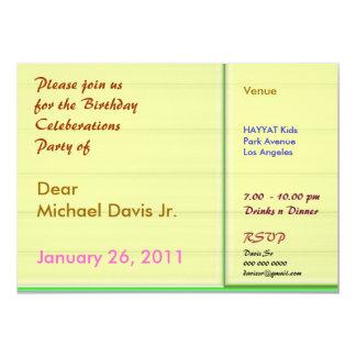 Tar prov den gula n gröntgränsen för leende med 12,7 x 17,8 cm inbjudningskort