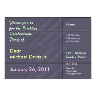 Tar prov lyxiga blåttgrå färg för satäng med text 12,7 x 17,8 cm inbjudningskort