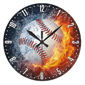 Tar tid på den dekorativa väggen för baseball stor rund klocka