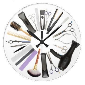 Tar tid på den dekorativa väggen för hårsalongen stor klocka