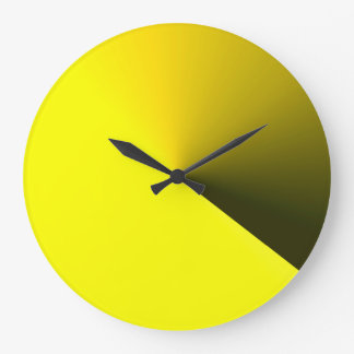 Tar tid på den gula väggen för rundan för hem- stor klocka
