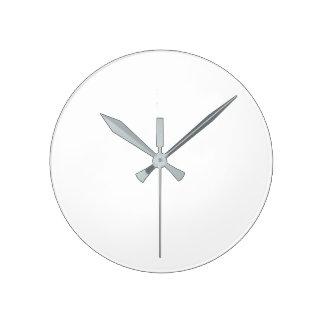 Tar tid på den stora) väggen för rundan (- grå medium rund klocka