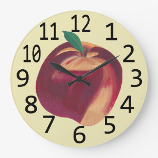 Tar tid på den Themed väggen för hel mogen Stor Klocka
